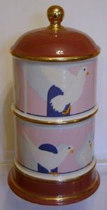 Carlton Ware Lustre Pottery Roger Michell Novelty Dovecote Double Egg Coddler - SOLD
